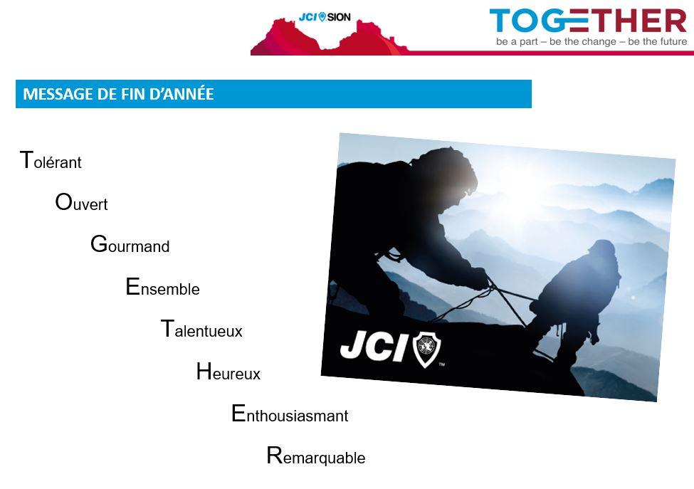 """slide de la présentation contenant le slogan """"Together"""""""